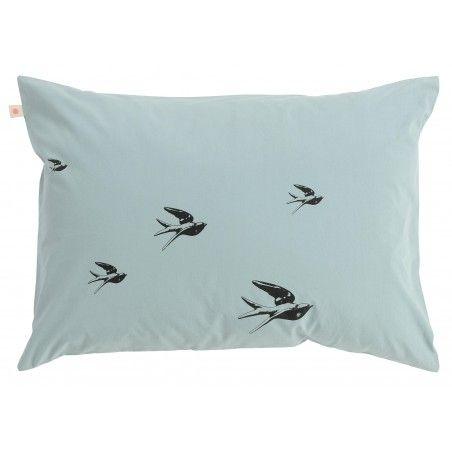 TAIE D'OREILLER BIRDS IODE