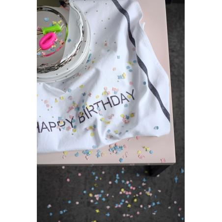 TORCHON HAPPY BIRTHDAY GLITTER BLACK