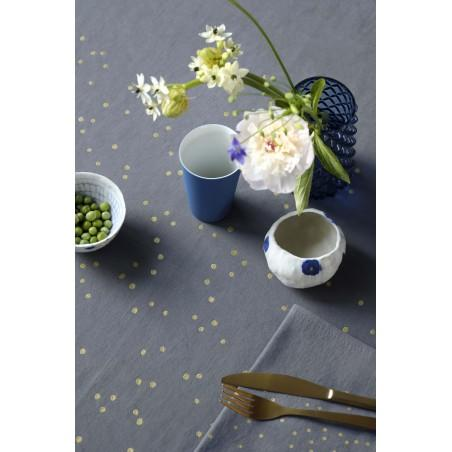 SET x2 SERVIETTES DE TABLE LINA SESAME PLUIE OR 40