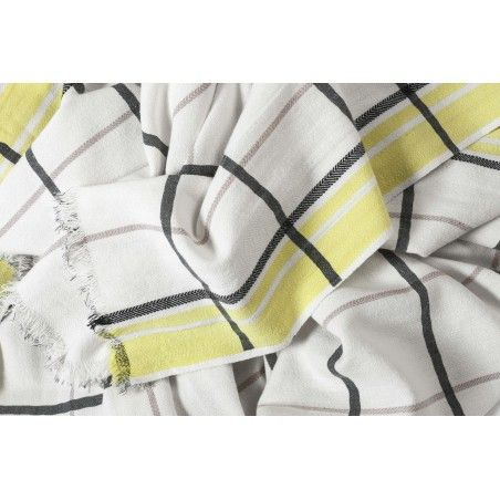 FOUTA CARREAUX CITRON 170