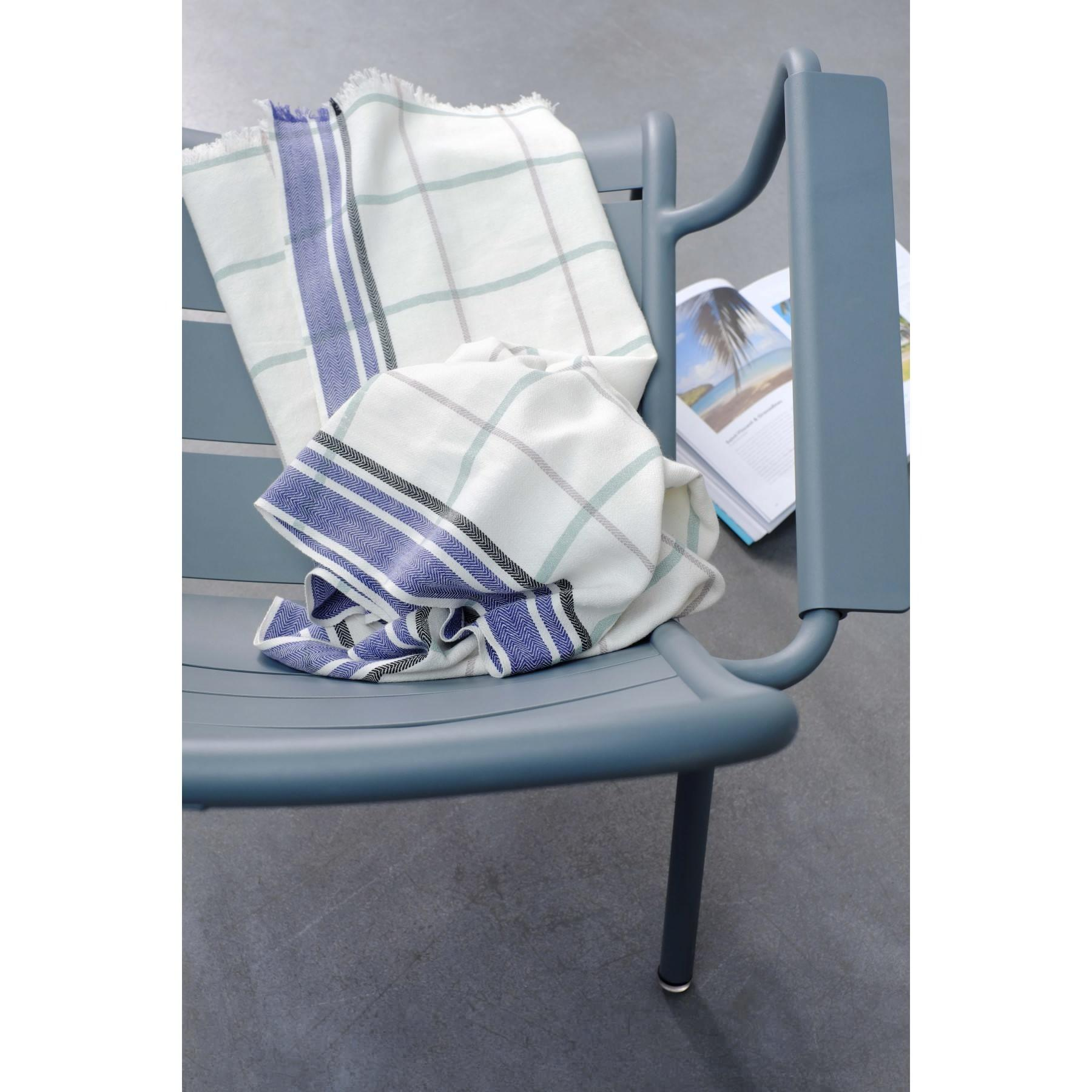 BEACH TOWEL CHECKED INDIGO 170