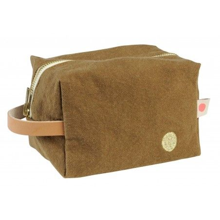 POUCH CUBE IONA TABAC