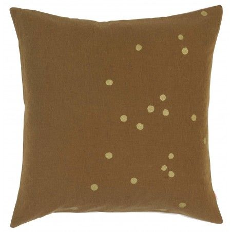 HOUSSE DE COUSSIN LINA TABAC OR 50
