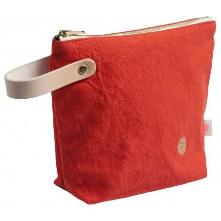 9773cd51951 Toiletry Bag Red Small Model - 100% cotton