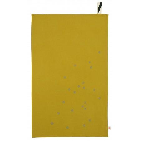 TEA TOWEL COLOMBO GOLD DOTS