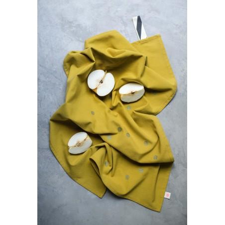 TEA TOWEL COLOMBO GOLD DOTS