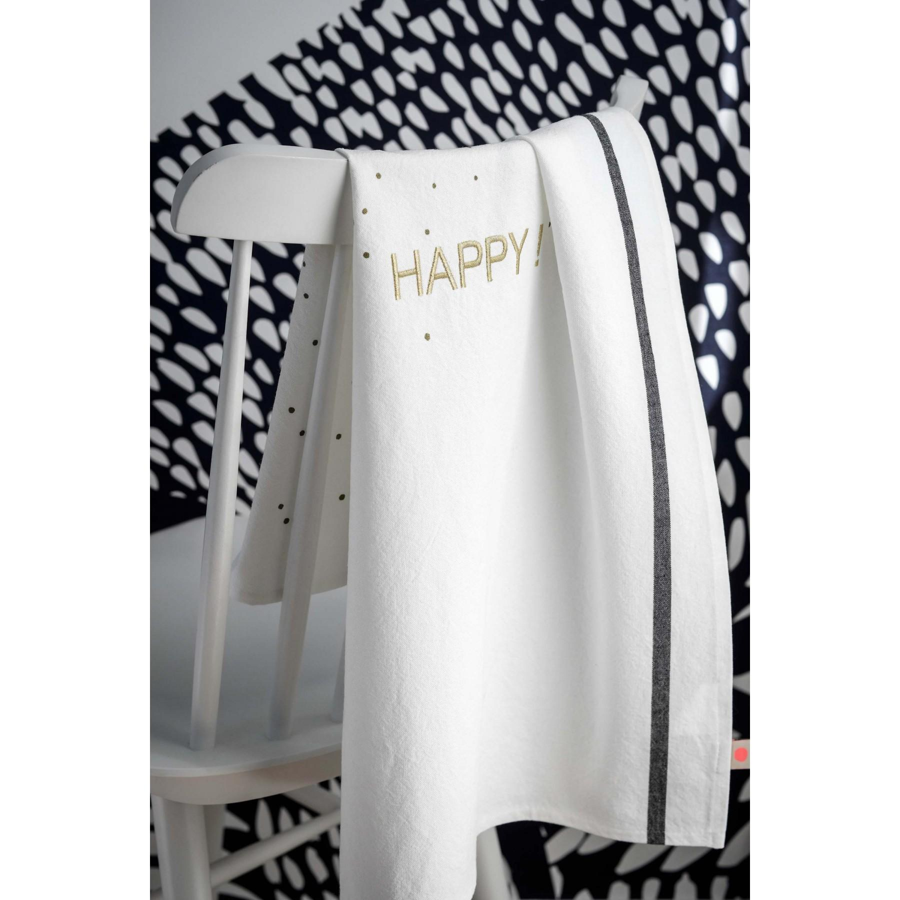 Photo d'ambiance TORCHON HAPPY OR