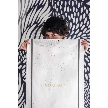 Product photo TEA TOWEL SO CHIC GOLD