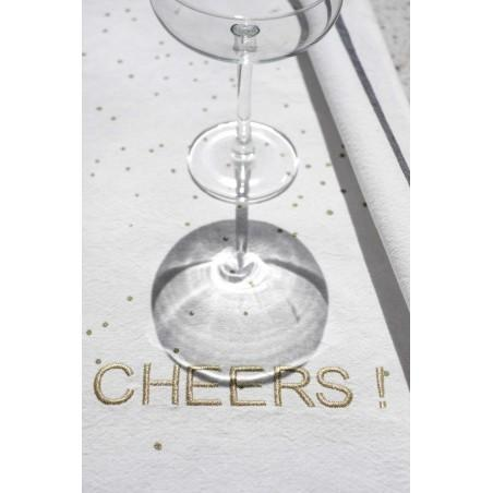 Photo d'ambiance TORCHON CHEERS OR