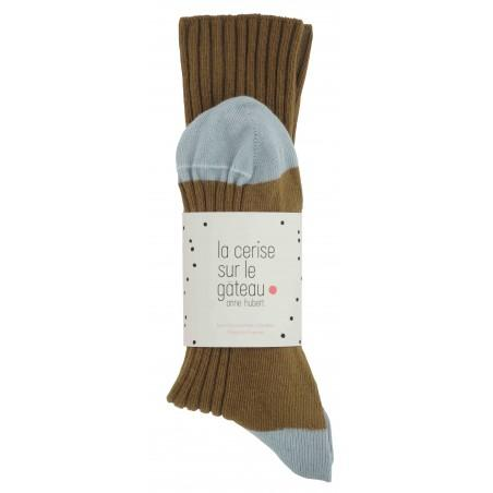 CHAUSSETTES YVETTE TABAC