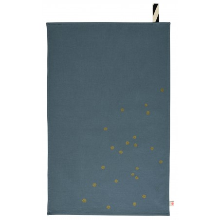 TEA TOWEL SARDINE GOLD DOTS