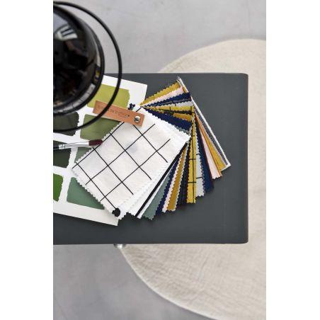 Photo échantillons tissus linge de lit percale de coton bio