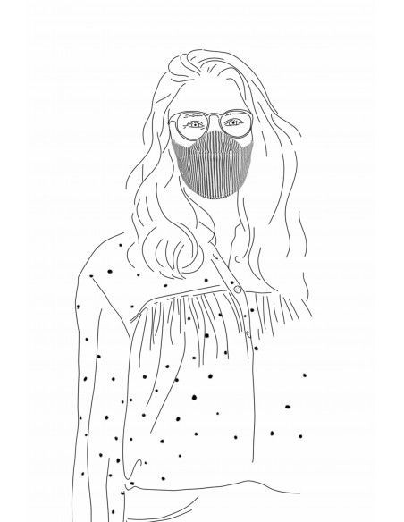 FABRIC FACE MASK FINETTE JERSEY