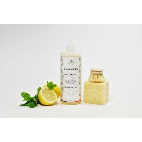 Photo liquid dishwash mint lemon