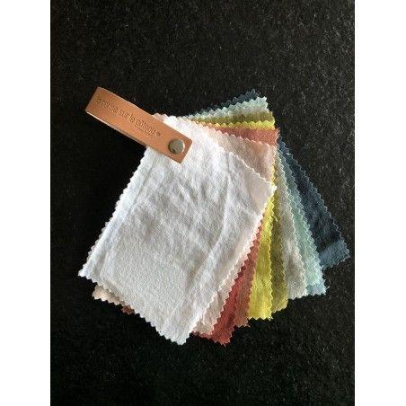 Photo fabric sample bed linen organic hemp
