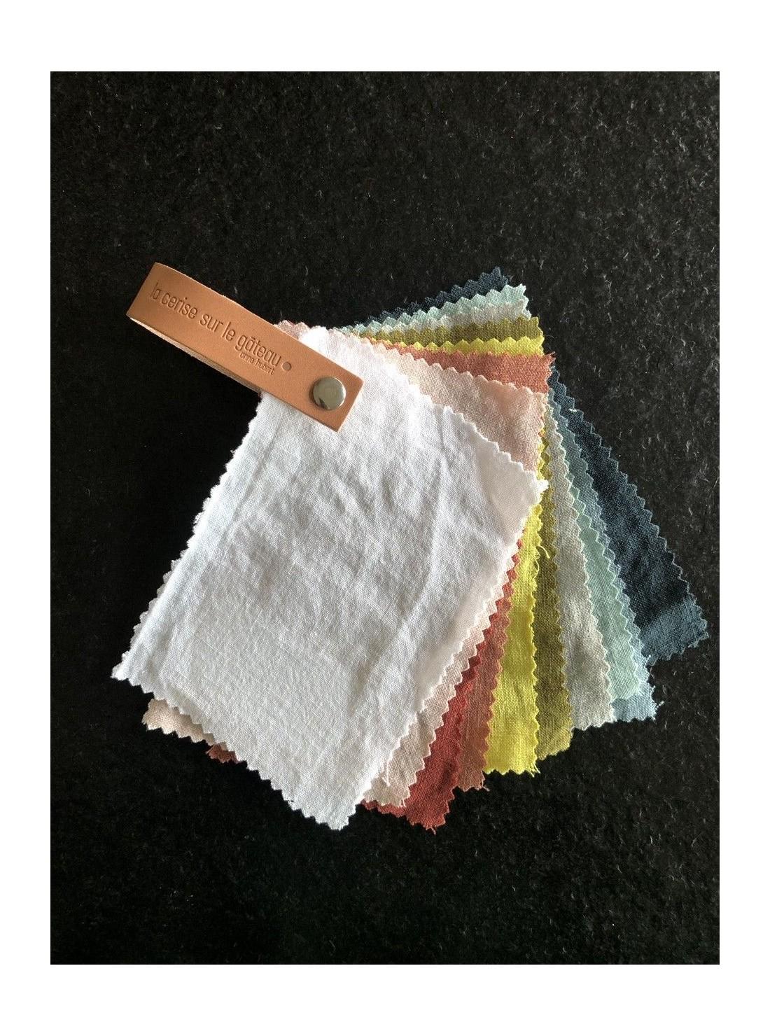 Photo échantillons tissus linge de lit chanvre bio