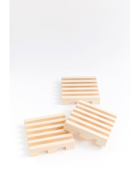 Product photo Handcrafted wooden soap dish L'esperluète