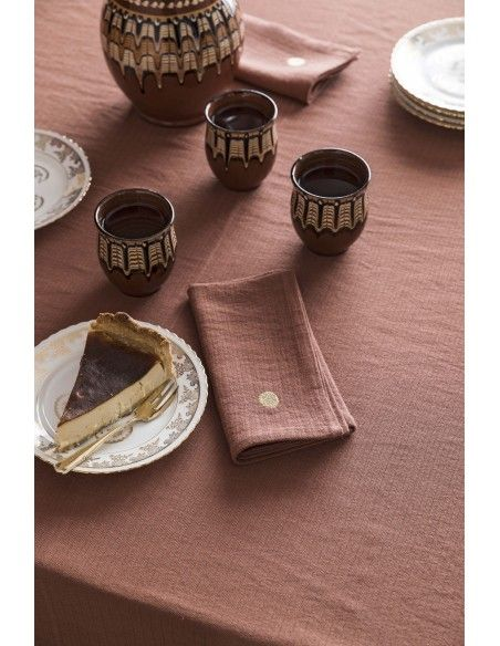 Product photo Rhubarbe Marcel tablecloth